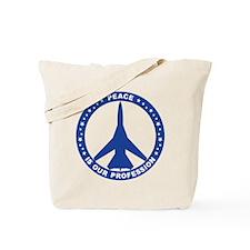 FB-111A Peace Sign Tote Bag