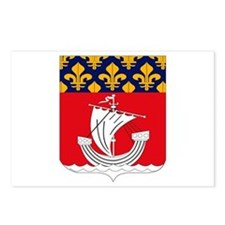 Paris Coat of Arms Postcards (Package of 8)