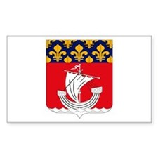 Paris Coat of Arms Rectangle Decal