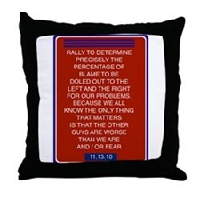 Cool Rally restore sanity Throw Pillow