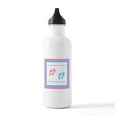 Twin Footprints - Pink & Blue Water Bottle