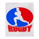 rugby player Throw Blanket
