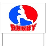 rugby player Yard Sign