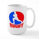 rugby player Large Mug