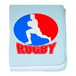rugby player baby blanket