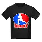 rugby player Kids Dark T-Shirt