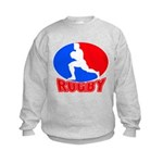 rugby player Kids Sweatshirt