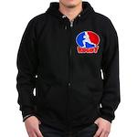 rugby player Zip Hoodie (dark)