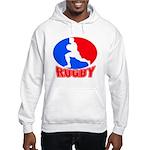 rugby player Hooded Sweatshirt