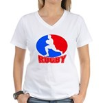 rugby player Women's V-Neck T-Shirt
