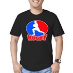 rugby player Men's Fitted T-Shirt (dark)