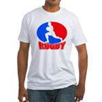 rugby player Fitted T-Shirt