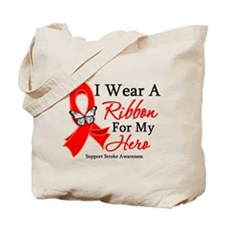 Stroke Ribbon Hero Tote Bag