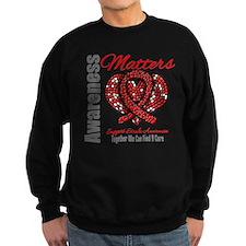 Stroke Mosaic Heart Sweatshirt