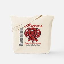 Stroke Mosaic Heart Tote Bag