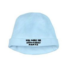 Will Work For Snowmobile Part baby hat