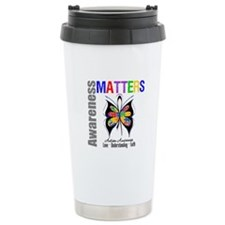 Colorful Autism Butterfly Travel Mug