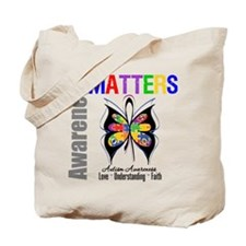 Colorful Autism Butterfly Tote Bag