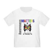 Colorful Autism Butterfly T