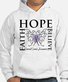 Hope Faith Believe Cancer Jumper Hoody
