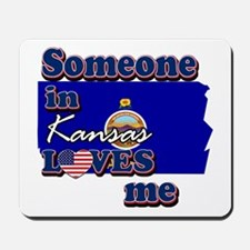 someone in kansas loves me Mousepad