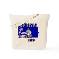 someone in kansas loves me Tote Bag