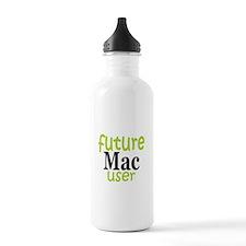 Future Mac User (green) Water Bottle