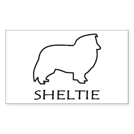 Sheltie Rectangle Sticker