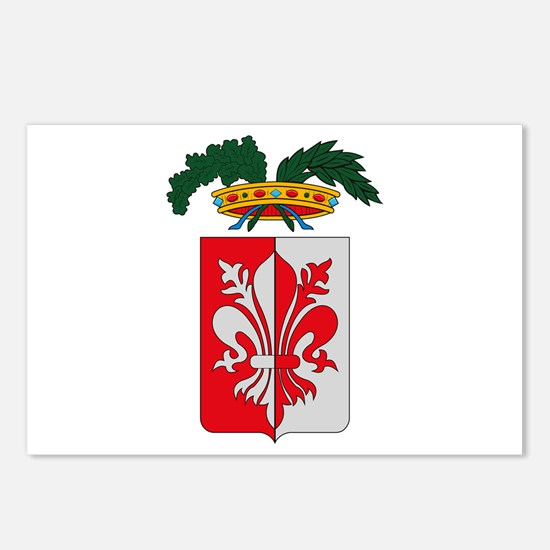 Florence Coat of Arms Postcards (Package of 8)