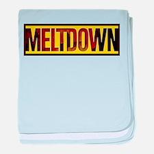 The Official MELTDOWN logo baby blanket