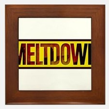 The Official MELTDOWN logo Framed Tile