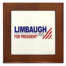 Rush Limbaugh 2012 Framed Tile