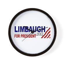 Rush Limbaugh 2012 Wall Clock