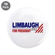 "Rush Limbaugh 2012 3.5"" Button (10 pack)"