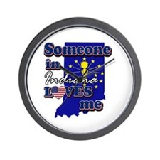 someone in Indiana loves me Wall Clock