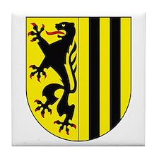 Dresden Coat of Arms Tile Coaster