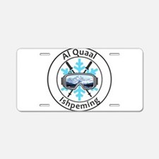 Al Quaal Recreation Ski Are Aluminum License Plate