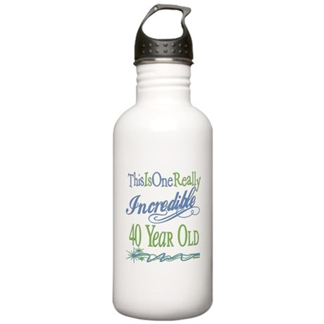 Incredible 40th Stainless Water Bottle 1.0L