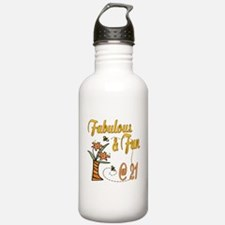 Floral 21st Water Bottle