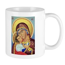 Russian Orthodox Icon of Mary & Jesus Small Mugs