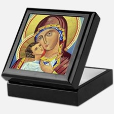 Russian Orthodox Icon of Mary & Jesus Keepsake Box