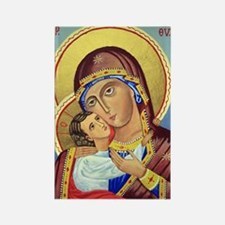 Russian Orthodox Icon of Mary & Jesus Magnet