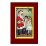 Traditional Santa With Children Postcards (Package