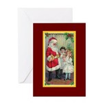 Traditional Santa With Children Greeting Card