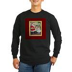 Traditional Santa With Children Long Sleeve Dark T