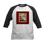 Traditional Santa With Children Kids Baseball Jers
