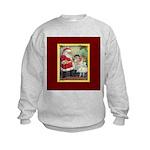 Traditional Santa With Children Kids Sweatshirt