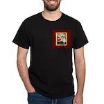 Traditional Santa With Children Dark T-Shirt