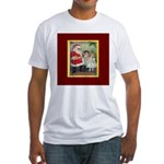 Traditional Santa With Children Fitted T-Shirt