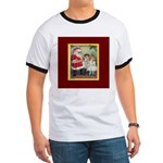 Traditional Santa With Children Ringer T